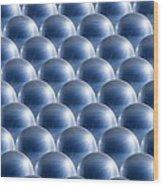 Metal Spheres, Abstract Artwork Wood Print