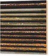 Metal Stripe  Wood Print