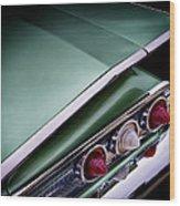 Metalic Green Impala Wing Vingage 1960 Wood Print by Douglas Pittman