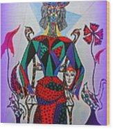 Metamorphosis Of Eleonore Into A Snake. Wood Print