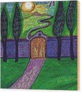 Metaphor Door By Jrr Wood Print