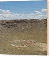 Meteor Crater Wood Print
