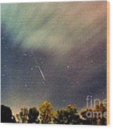Meteor Perseid Meteor Shower Wood Print