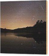 Meteor Shower Wood Print by Laurent Laveder
