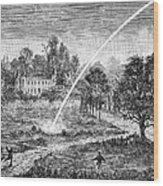 Meteoric Impact, 17th Century Wood Print