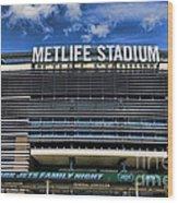 Metlife Stadium Wood Print