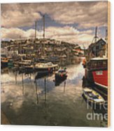 Mevagissy Harbour Wood Print