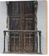 Mexican Balcony Wood Print