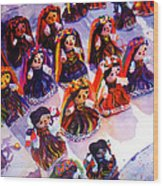 Mexican Dolls Wood Print