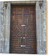 Mexican Door 32 Wood Print