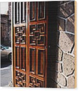 Mexican Door 42 Wood Print