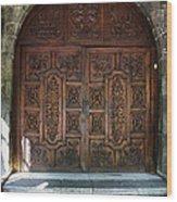 Mexican Door 47 Wood Print