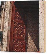 Mexican Door 49 Wood Print