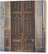 Mexican Door 54 Wood Print