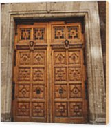 Mexican Door 67 Wood Print