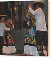 Mexican Folk Dancers 3 Wood Print