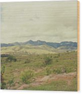 Mexican Mountains Wood Print