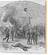 Mexican War: Vera Cruz Wood Print