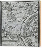 Mexico - Spanish Conquest Wood Print