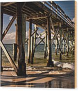 Mexico Beach Pier Wood Print