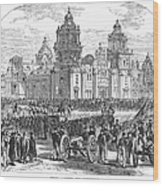 Mexico City, 1847 Wood Print by Granger