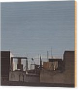 Mexico Rooftop By Tom Ray Wood Print