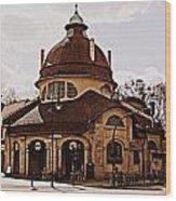 Mexikoplatz Train Station Wood Print
