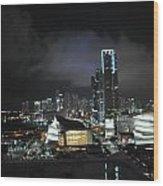 Miami At Night Wood Print
