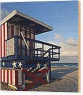 Miami Beach Watchtower Wood Print