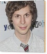 Michael Cera At Arrivals For Youth In Wood Print