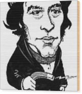 Michael Faraday, Caricature Wood Print by Gary Brown