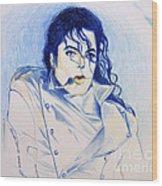 Michael Jackson - History Wood Print by Hitomi Osanai