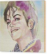 Michael Jackson - Mike Wood Print by Hitomi Osanai
