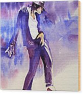 Michael Jackson - Not My Lover Wood Print by Hitomi Osanai