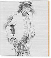 Michael Jackson Attitude Wood Print