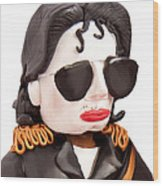 Michael Jackson Wood Print by Louisa Houchen