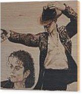 Michael Jackson Wood Print by Michael Garbe