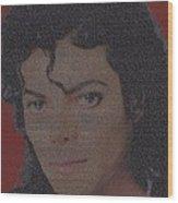 Michael Jackson Songs Mosaic Wood Print by Paul Van Scott