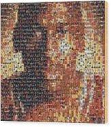 Michael Jordan Card Mosaic 1 Wood Print