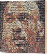 Michael Jordan Card Mosaic 3 Wood Print