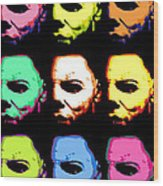 Michael Myers Mask Pop Art Wood Print
