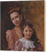 Michaela And Alexandra Wood Print