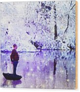 Michale Poppins Winter Adventure Wood Print by Michael Taggart