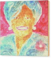 Michelle Obama 2 Wood Print by Richard W Linford