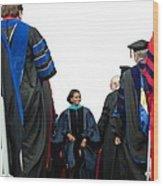 Michelle Obama Delivered Wood Print