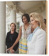 Michelle Obama Hosts First Lady Wood Print