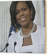 Michelle Obama Visited The Treasury Wood Print