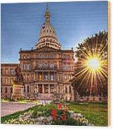 Michigan Capitol - Hdr - 2 Wood Print