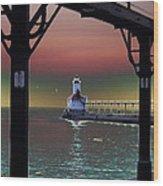 Michigan City Lighthouse 2 Wood Print