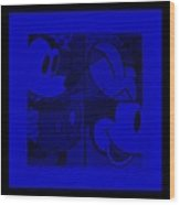 Mickey In Blue Wood Print